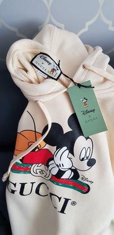 Bluza GUCCI Mickey Mouse - 100 % Bawełny, Różne Rozmiary
