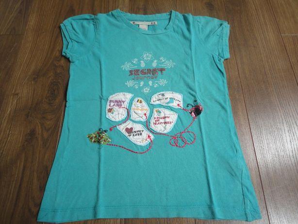 TAM.6-8A (116-128cm) - ZARA T-shirt com aplicações