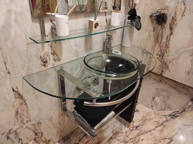 Elegante Móvel WC Vidro Temperado