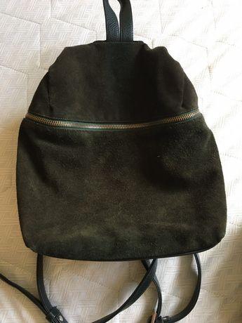продам кожаный рюкзак с замшей