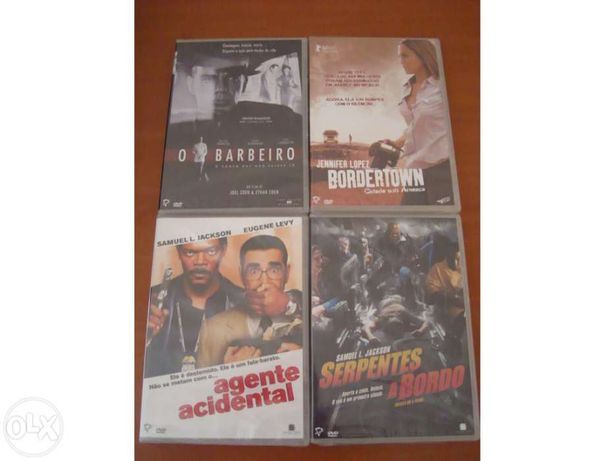 Lote de 4 filmes em DVD novos
