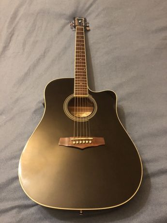 Ibanez PF15ECE BK z pokrowcem i kablem - gitara elektroakustyczna
