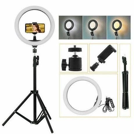 Кольцевая LED лампа для на селфи 26см телефона визажиста видеоКольцо