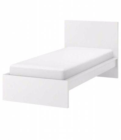 Łóżko ikea malm 90/200 białe z materacem