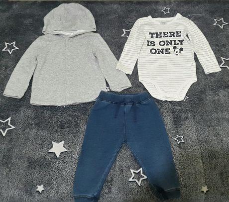 Disney baby. 12-18 мес. Костюм-тройка, кофта, бодик, штаны под джинс