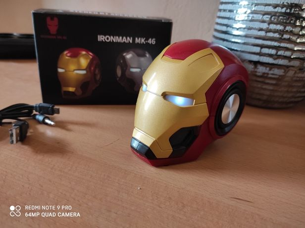 Coluna Bluetooth - Iron Man (Nova)