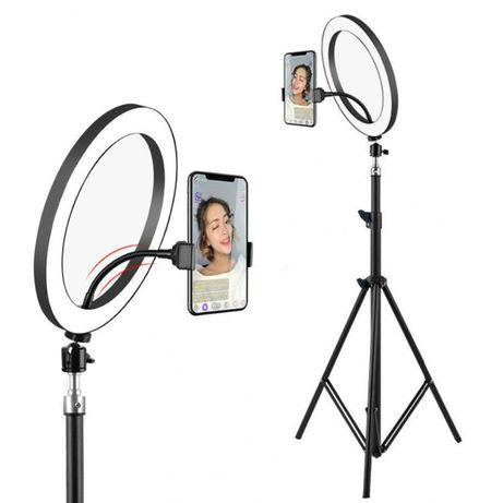 Набор для блогера LED лампа 26см к нему штативы+пульты+микрофон