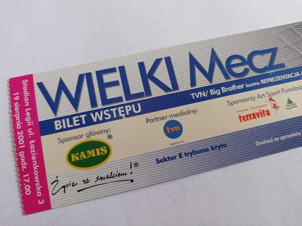 Bilet - Wielki Mecz - Big Brother TVN z 2001 roku