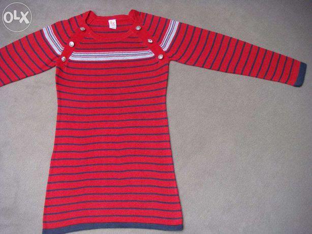 tunika / długi sweter / bluzka dla dziewczynki 6 / 7 lat