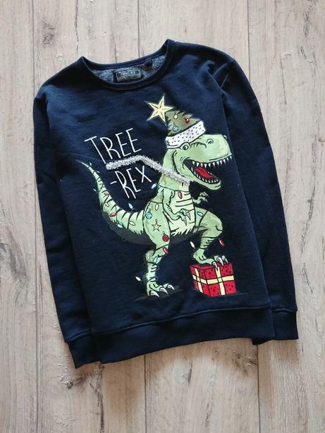 Реглан свитер свитшот новогодний Некст Next 8 лет 128 см динозавр