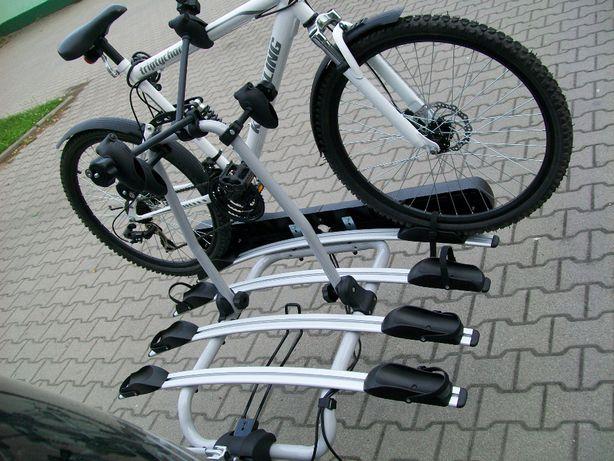 Bagażnik uchwyt rowerowy na hak platforma na 4 rowery 5 kluczyków