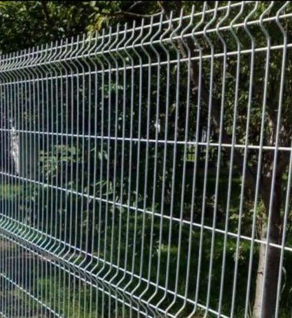 Ogrodzenie panelowe płot ogród montaż słupki podmurowki obejmy panele