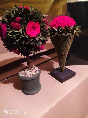Bukiety wiecznie żywe z roślin I kwiatów  stabilizowanych