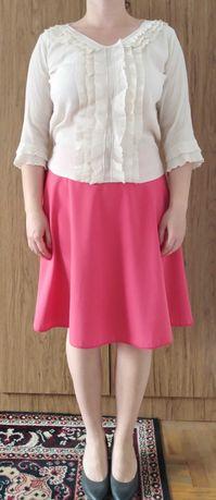 Top Secret spódnica różowa koralowa rozkloszowana 40 42 L XL