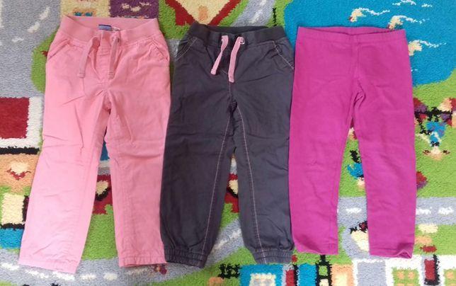 Spodnie zestaw dziewczynka 98/104