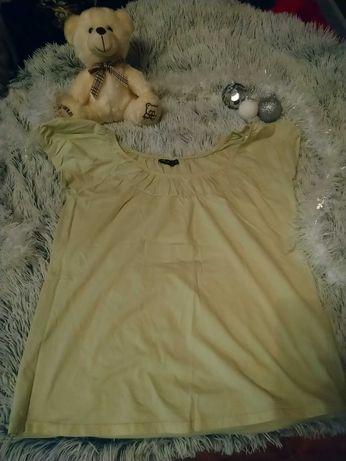 Żółta bluzka z marszczeniami XXL 44