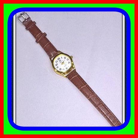 Klasyczny Okrągły Zegarek Kwarcowy Damski z Pasek