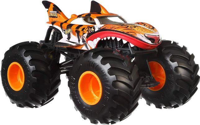 Хот вилс машинка Тигровая акула Hot Wheels Monster Trucks Tiger Shark