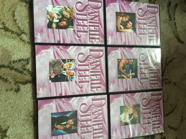 Filmy DVD + książka Danielle Steel