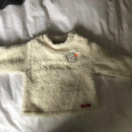 camisola polar branca muito quentinha 9-12 meses
