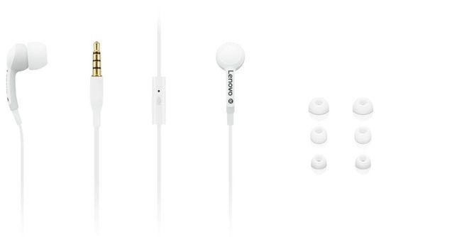 Słuchawki Lenovo 100 białe (GXD0S50938) In-Ear Headphone mikrofon NOWE
