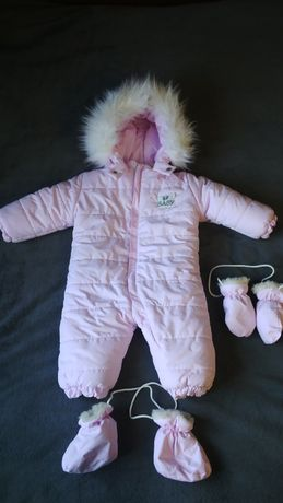 зимовий комбінезон, дуже теплий, в ідеальному стані, розмір 74-80