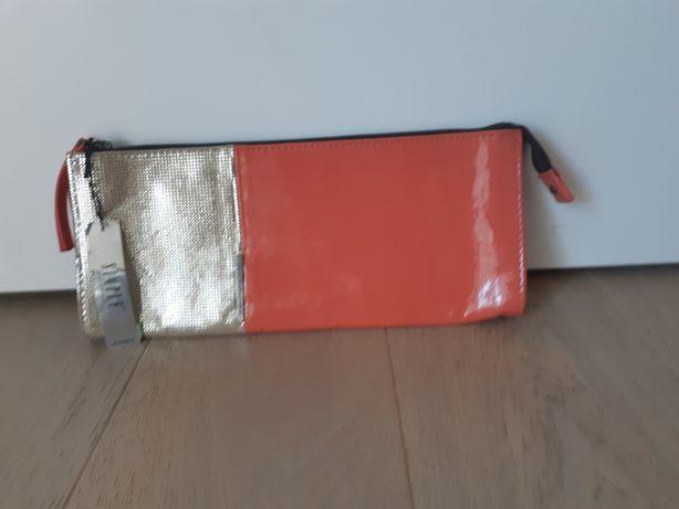 Nowa skórzana torebka SIMPLE kopertówka