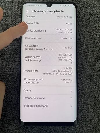 Huawei p30 pro  komplet okazja