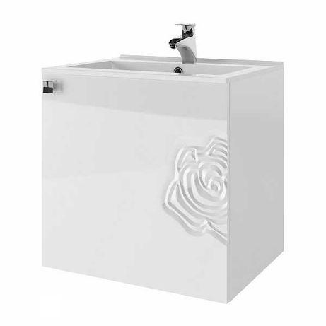 Zestaw 3D szafka pod umywalkę słupek szafka z lustrem rabat 40%