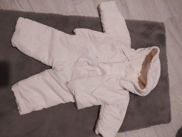 rozmiar 74 Kombinezon dwuczęściowy kurtka zimowa i spodnie ocieplane
