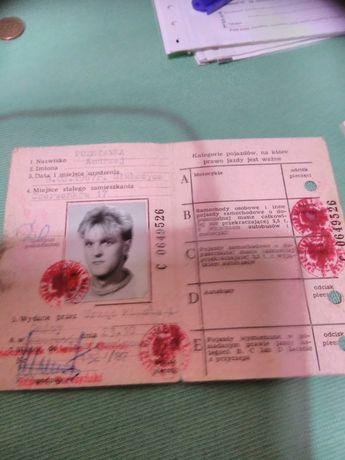 Stare prawo jazdy kolekcjonerskie