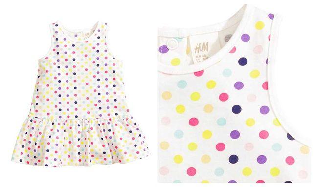 59-> 3szt sukiena letnia H&M pepco r. 86 12-18mca