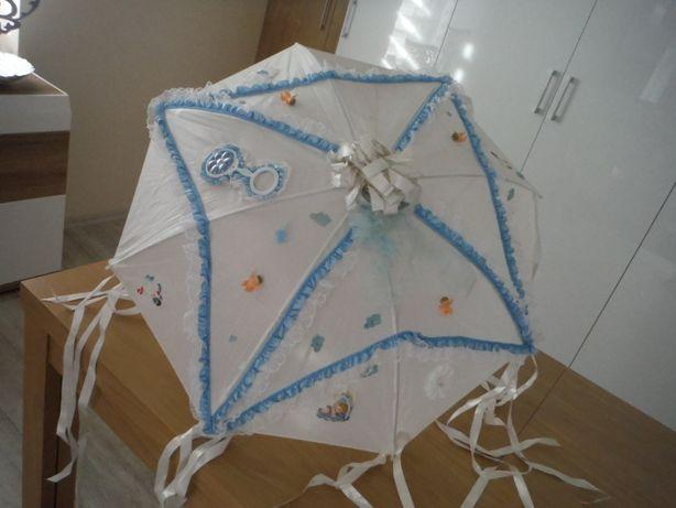 Parasolka okazjonalna baby shower, chrzest, odwiedki dla niemowlaka