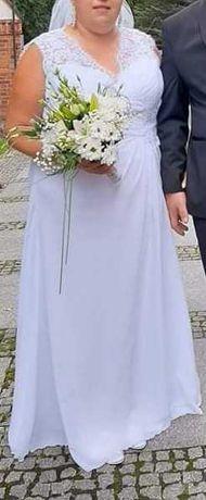 Sukienka ślubna śnieżno biała