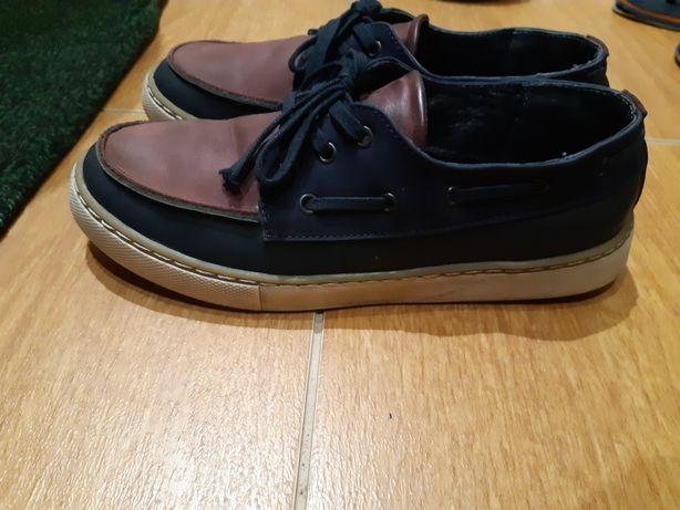 Туфли кожаные подросток