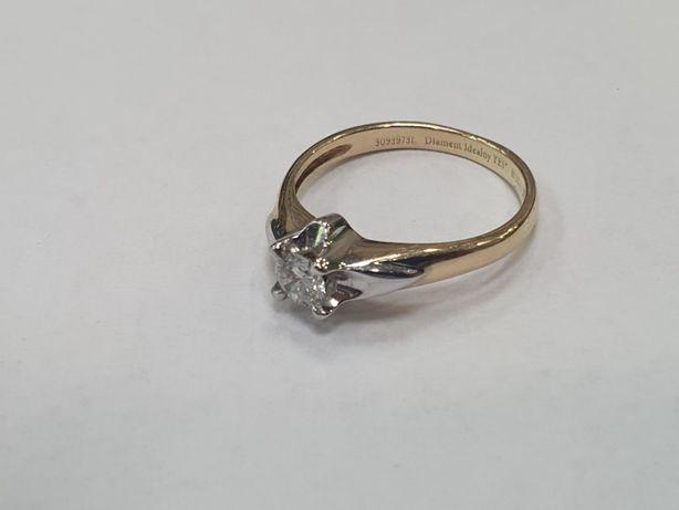 YES! Piękny złoty pierścionek damski/ 0.23 CT/ Brylant/ 2.33 gram/ R10