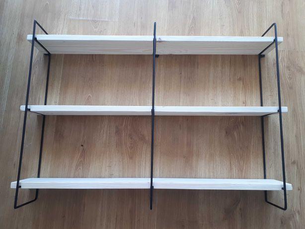 Półki Loft lite drewno