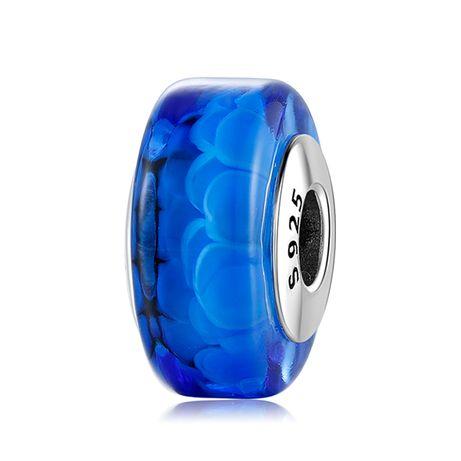Charms Murano Niebieski Wkręcany do Pandora srebro