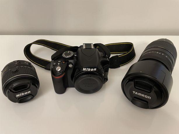 Nikon D3200 + 2 obiektywy + torba + dodatkowa bateria + karta pamięci