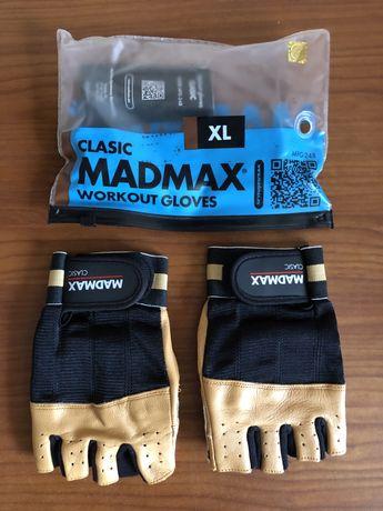 Перчатки для фитнеса, велосипеда кожа MadMax XL