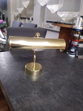 Lampka kinkiet złoty kolor z żarówka energooszczędna