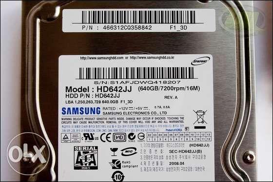 жесткий диск samsung hd642jj 640Gb sata