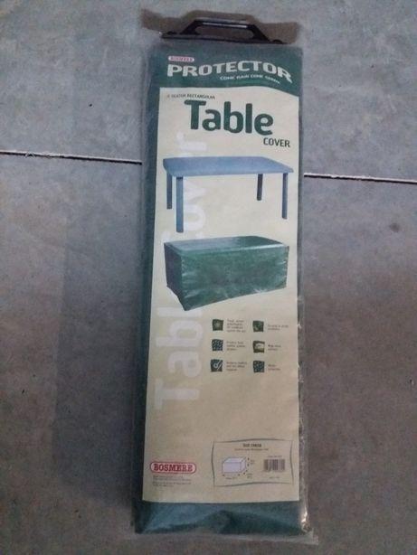 Cobertura protectora exterior de mesa verde
