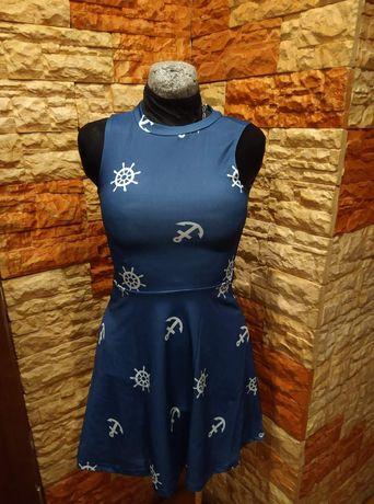 Sukienka rozkloszowana tunika damska młodzieżowa hit modne