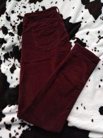 Spodnie damskie sztruksowe stan idealny