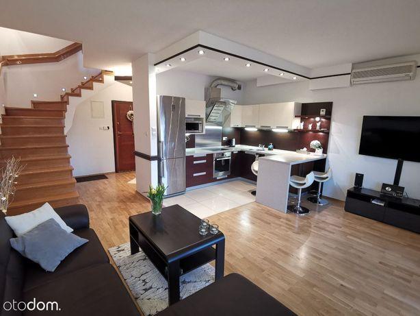 Dwupoziomowe klimatyzowane mieszkanie z garażem