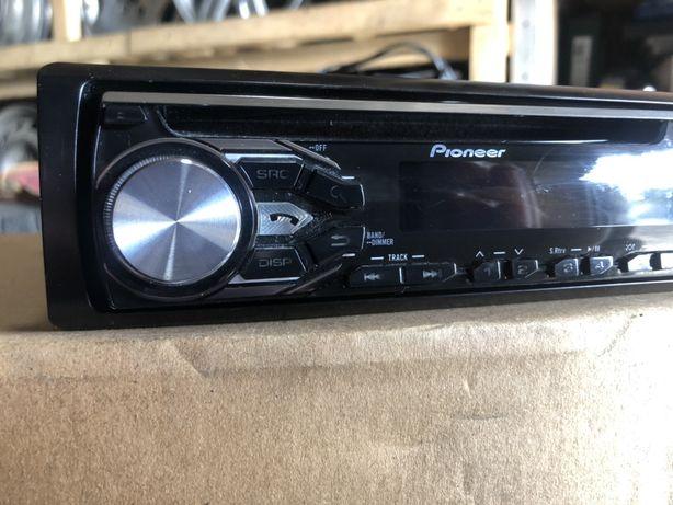 Автомагнитола, магнитофон pioneer cd, aux, usb, bluetooth