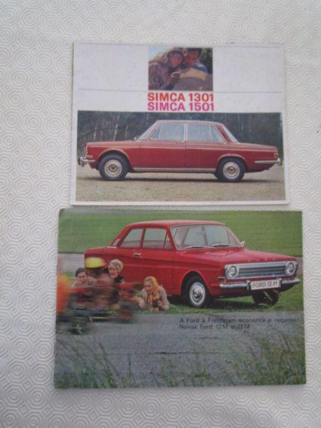 folhetos brochuras catalogos automoveis mini vw cortina etc