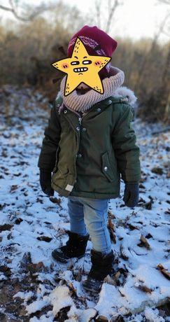 Zara kurtka zimowa dziewczęca 86