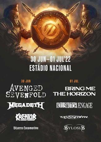 1 Bilhete1 VOA 2022 - Avenged Sevenfold/Megadeth